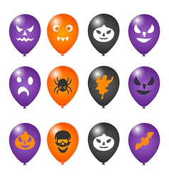 Colorful balloons for Halloween party vector image