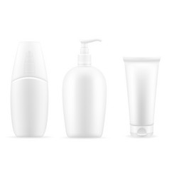 cream lotion in a plastic container packaging vector image