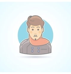 Designer stylist icon avatar and person vector