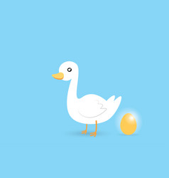 Goose and golden egg investment and business vector