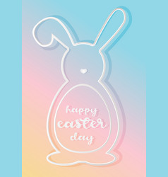 happy easter day poster vector image