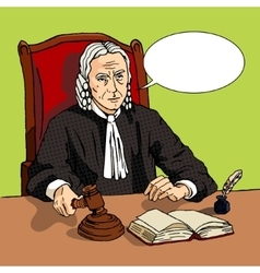 Judge verdict comic book vector