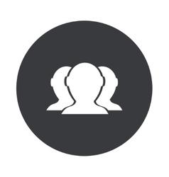 modern gray circle icon vector image vector image