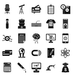 Mortgage icons set simple style vector