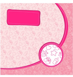 pattern baby girl vector image vector image