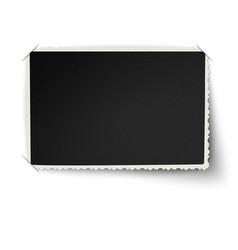 Retro not straight edge photo frame vector image