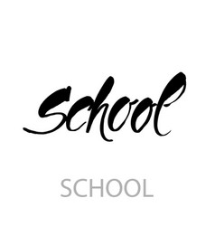 School lettering template vector