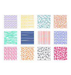 scribble and dotted hand drawn seamless vector image vector image