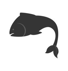 sea fish nature swim icon vector image vector image