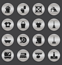 set of 16 editable dry-cleaning icons includes vector image
