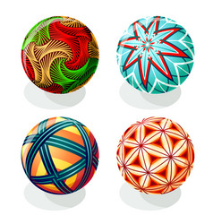 temari balls - autumn set vector image vector image