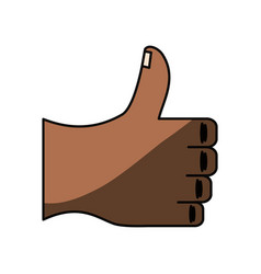 Thumb up hand like vector