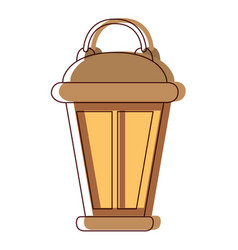 vintage lantern in watercolor silhouette vector image vector image