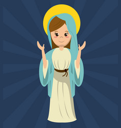 Virgin mary pray statue image vector