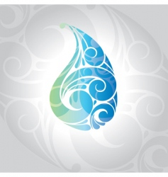 Water drop illustration vector