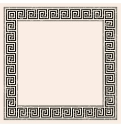 Greek style seamless ornament with corner element vector