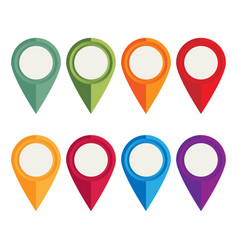 Flat icons location pointer for web mobile and vector