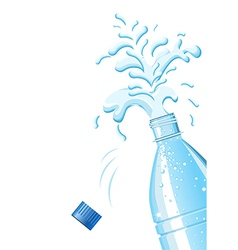 Splashing mineral water vector