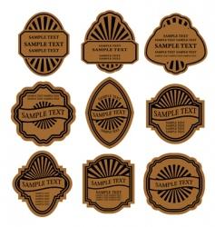Set of vintage brown labels vector
