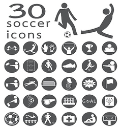 soccer icon2 vector image