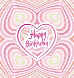 Happy birthday card pink abstract background vector