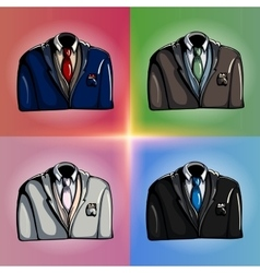 Stylized jackets vector