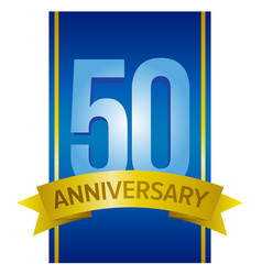50 anniversary label vector image vector image