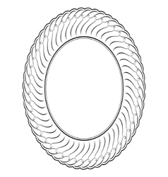 oval ornamental vector image