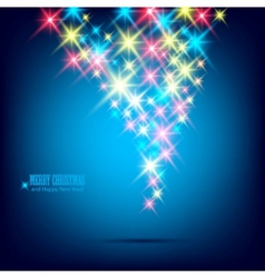 Blue beautiful christmas background vector