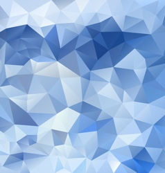 Ice blue abstract polygon triangular pattern vector