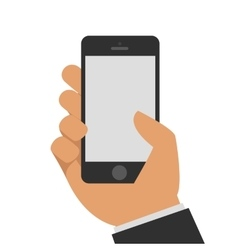 Phone in hand vector