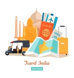 Travel india conceptual poster vector