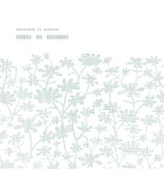 abstract gray bush leaves textile horizontal frame vector image