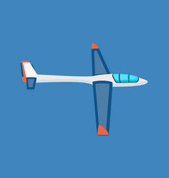 air vehicles land glider hovering in the air vector image