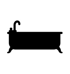 bathtub clean symbol vector image
