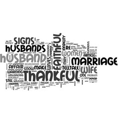 be thankful for a faithful husband text word vector image