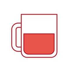 beer glass drink alcohol liquor beverage vector image