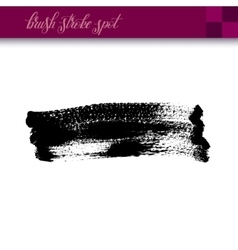 black ink hand drawing brush strokes spot element vector image vector image