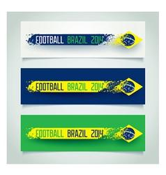 Brazilian grunge banners vector