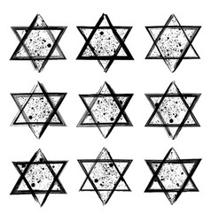Collection of the stars of david created in vector