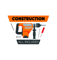 Construction work tools home repair icon vector