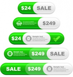 design element set for sale vector image