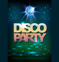 Disco ball background disco poster vector