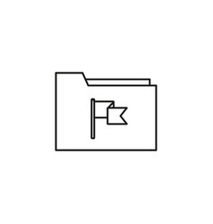 flagged folder icon vector image