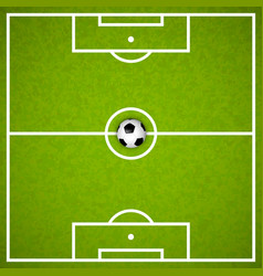 Football field with ball vector