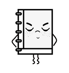 Kawaii cute tangry notebook tool vector