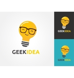 Light bulb - idea creative technology icons vector image