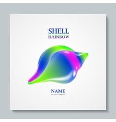 Luxury image logo rainbow seashell to design vector