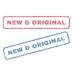 new original textile stamps vector image