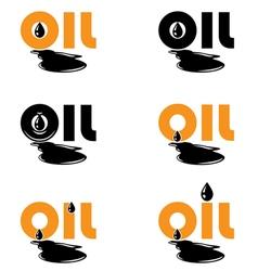 Oil drop logo template vector